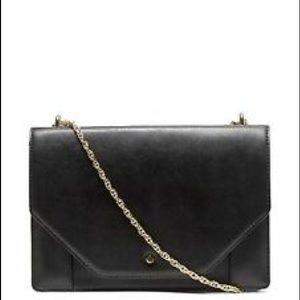 Banana Republic Leather Envelope Gold Chain Bag